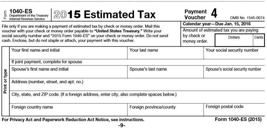 IowaBiz Estimated tax payments who needs to file quarterly – Estimated Tax Form
