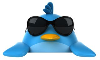Twitter bird w: glasses