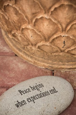 Peace begins when expectations end photo