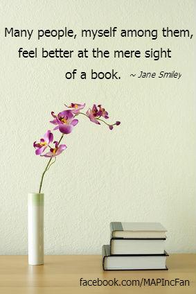 Books Single Flower w quote